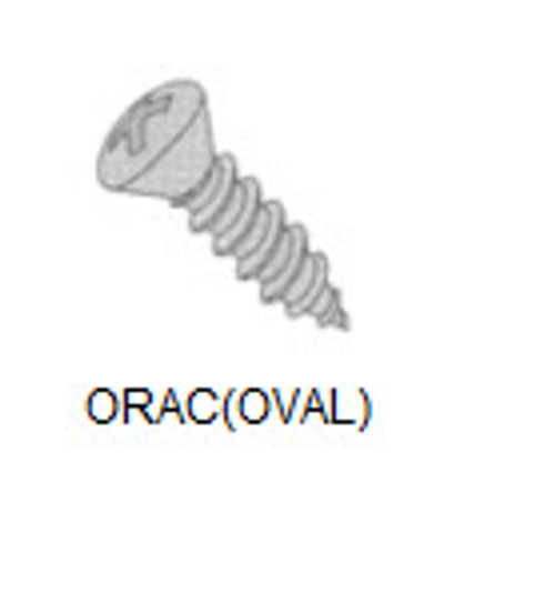 "Sheet Metal Screw, Thread 10, Length 5/8"" (50) - ORAC10-10"