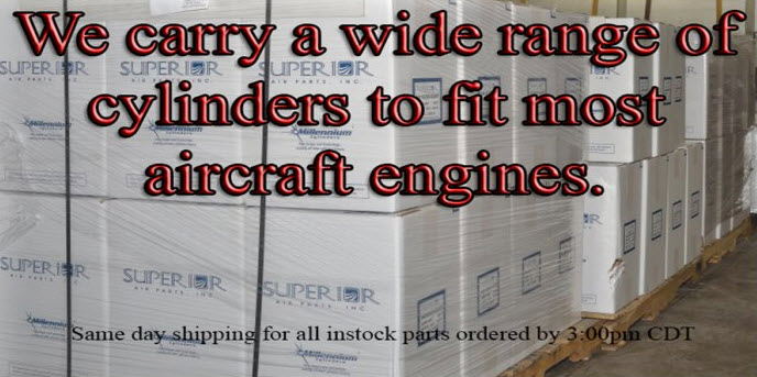We carry a wide range of cylinders to fit most aircraft engines.