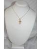 "14KT Greek Byzantine Style Baptismal Cross- 1 1/8"""