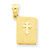 14KT Holy Bible with Orthodox Cross Charm