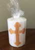 St. John the Baptist Hand-dipped Icon Pillar Candle: 3 Sizes Available!