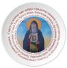 Porcelain Kolach Plate- Sveti Alimpije Stolpnik