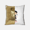Personalized Sequins Pillow: Serbian Girl Dancer Design