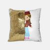 Personalized Sequins Pillow: Greek Girl Dancer Design