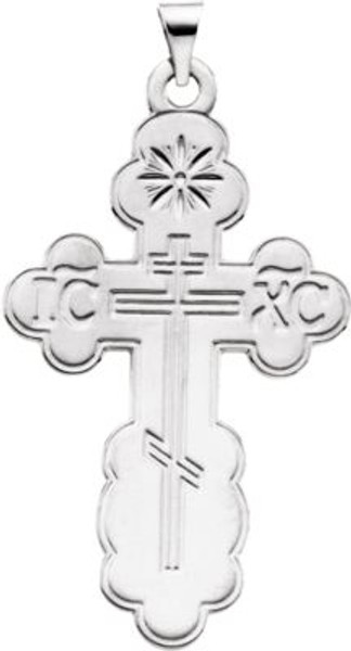 Sterling Silver St. Olga Style Cross- Large