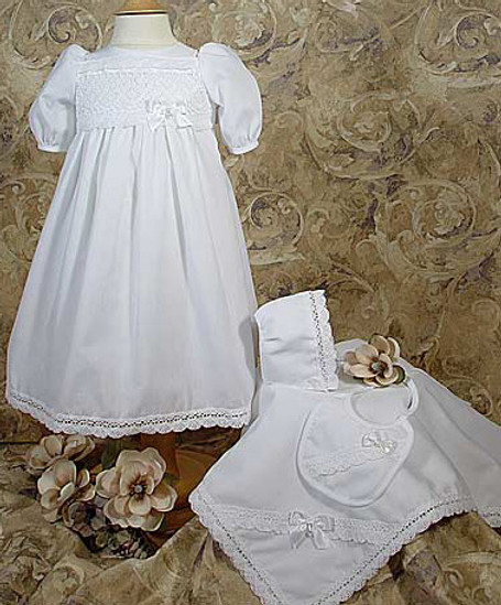 5 Pc Cotton Preemie Baptismal Set