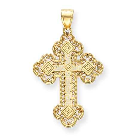 14KT Greek Filigree Byzantine Cross