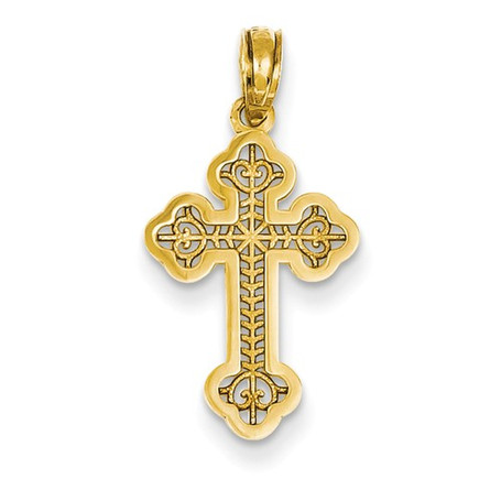 14KT Open Work Orthodox Cross