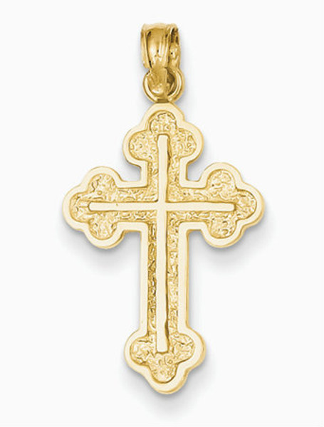 "14KT Serbian Style Cross- 1""- FREE 2 DAY SHIPPING!*"