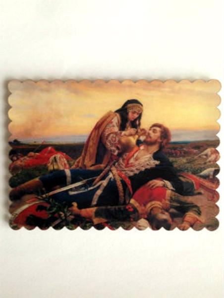 Kosovka Devojka Acrylic Icon Magnet
