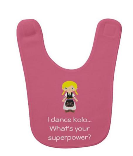 Serbian Dancer Baby Bib: Girl