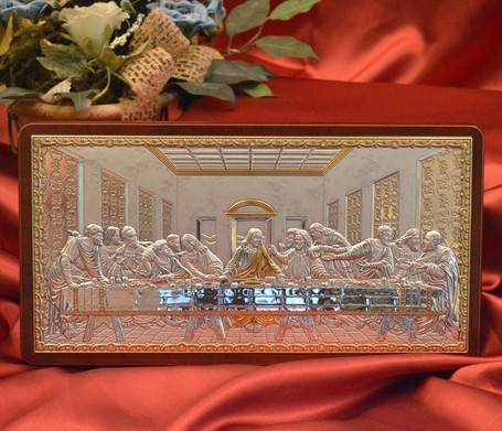 Mystical Supper Silver Icon: 4 Sizes