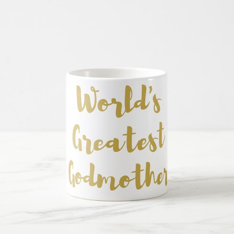 World's Greatest Godmother Coffee Mug in Gold or Silver