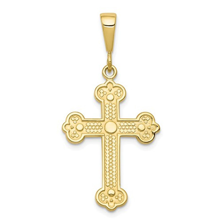 14KT Decorated Budded Style Orthodox Cross- 1 3/4""