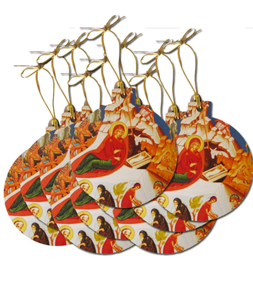 Nativity Icon Acrylic Christmas Ornaments- Set of 10