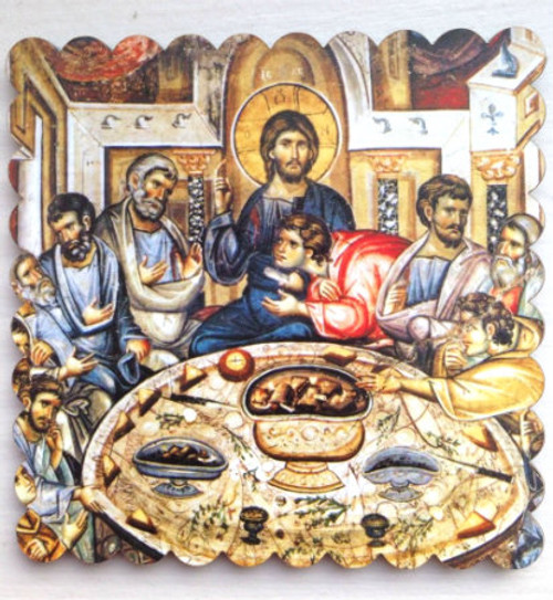 Mystical Last Supper Thick Acrylic Icon Magnet