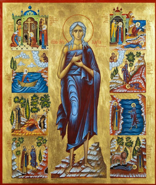 St. Mary of Egypt Icon with Scenes- Icon II
