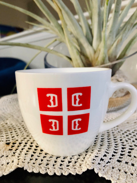 Serbian 4C's Cappuccino Mugs: Set of 4