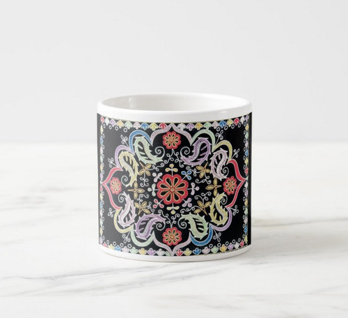 Ceramic 6 oz. Mini Mug: Cilim Design