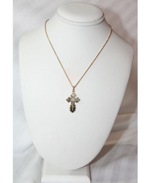 14KYG St. Olga Style Cross- Large