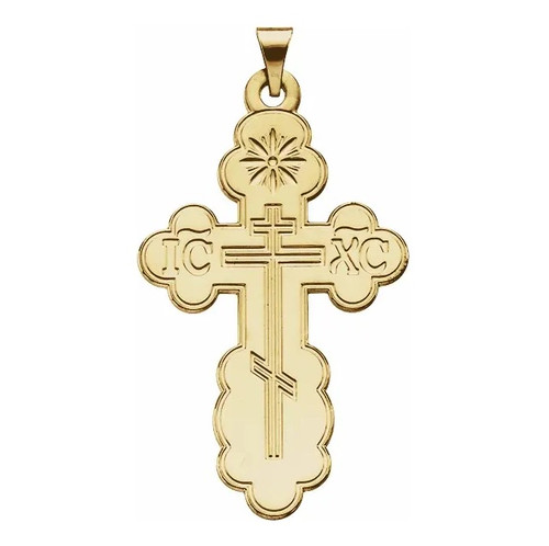 14KT St. Olga Style Cross- Medium- ON SALE!