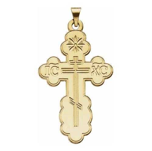 14KT St. Olga Style Cross- Medium