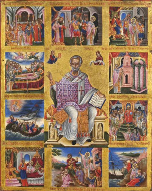 St. Nicholas Icon with Scenes- Icon II