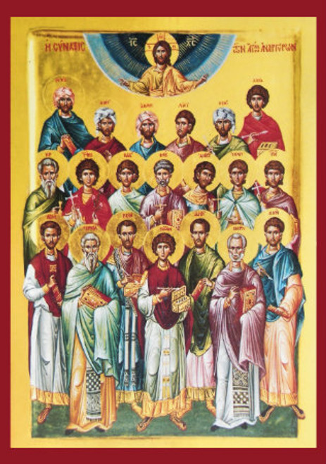 Synaxis of the Holy Unmercenaries Icon