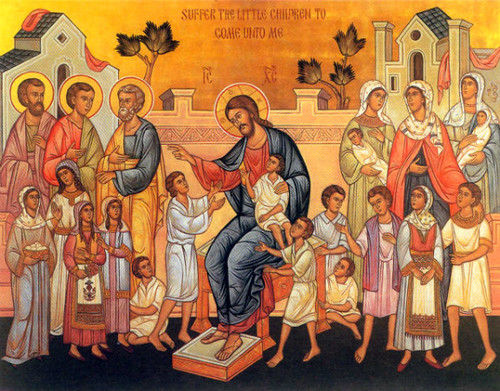 Christ Blessing the Children Icon