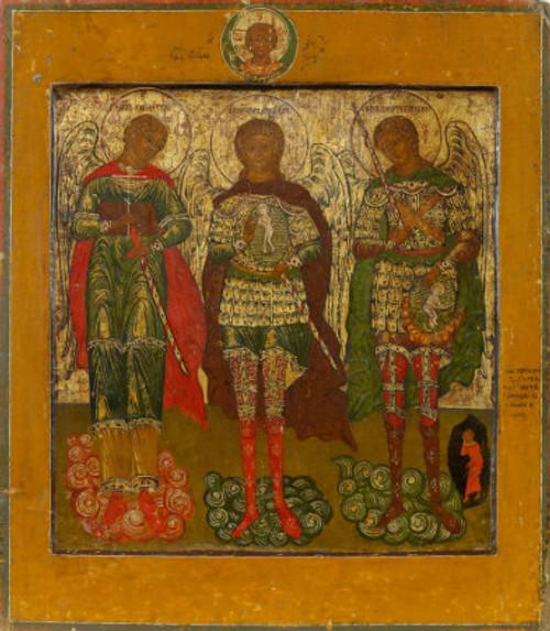 Three Archangels Icon: Ss Michael, Gabriel and Raphael