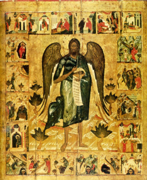 St. John the Baptist Icon with Scenes