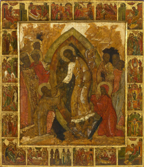 Resurrection Icon with Scenes