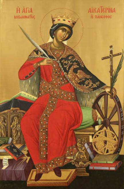 St. Katherine the Great Icon- Icon III (Vatopedi)