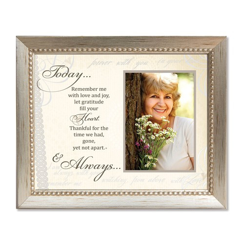 Today and Always Sentiment Photo Silver-tone Memorial Frame