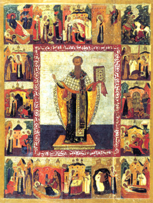 St. Basil the Great with Scenes Icon