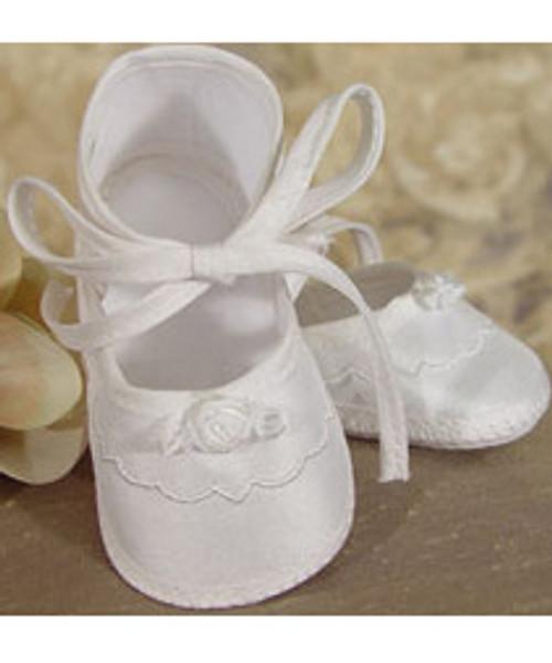 Girls Silk Santung Shoes