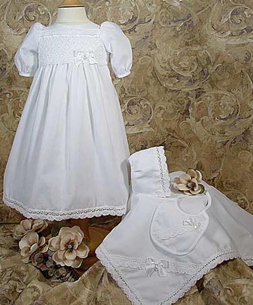5 Pc Cotton Preemie Baptismal Set