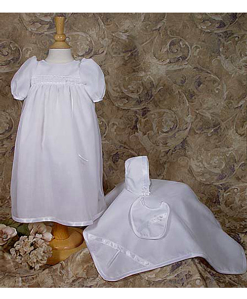 5 pc Organza Preemie Baptismal Set