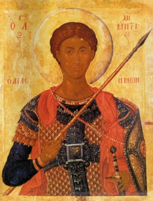 St. Demetrios Icon- Icon X