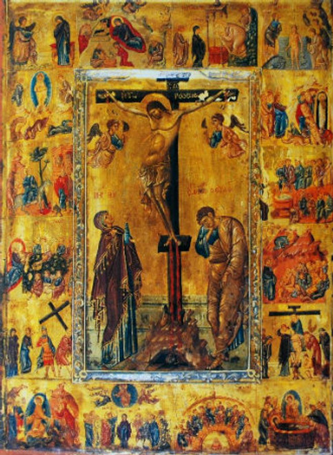 Crucifixion Icon with Scenes