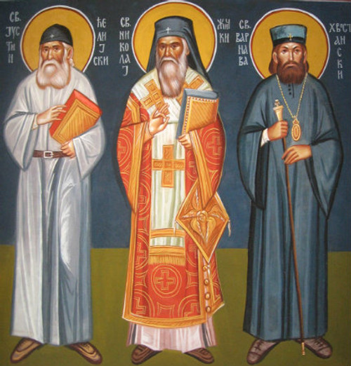 Ss. Justin, Nikolaj and Varnava Icon