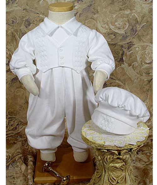 Boys Long White Celebration Set with Hat