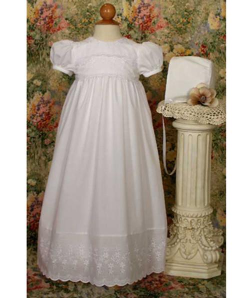 "24"" Poly/Cotton Baptismal Gown W/ Lace Detail"