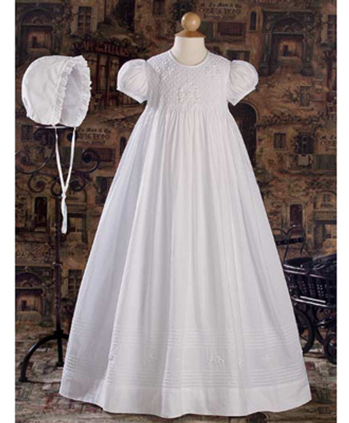 """32"""" Hand Smocked Baptismal Gown"""