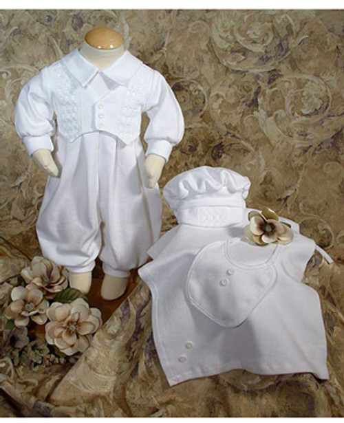 4 Pc Cotton Interlock Preemie Baptismal Set