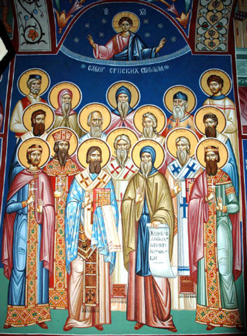 Synaxis of the Serbian Saints Icon