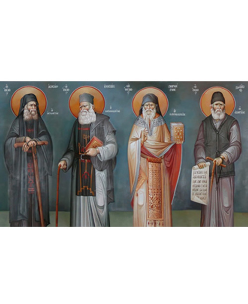 New Choir of Athonite Fathers Icon- L