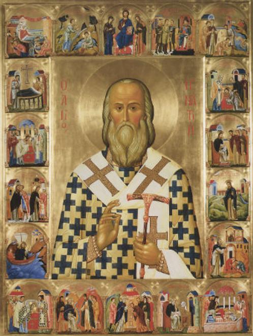 St. Ignatius (Branchianov) with Scenes Icon