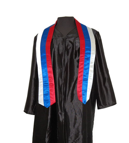 Serbian Flag Satin Graduation Sash