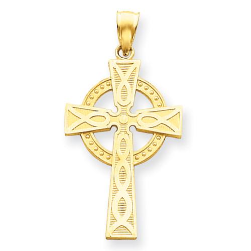 """14KT Celtic Cross Pendant- 1 1/2"""""""